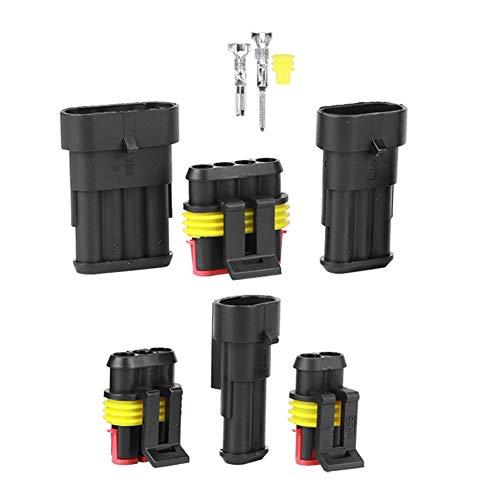 Weikeya Conector impermeable automotriz preciso, requisitos masculinos de calidad 2/3/4 agujeros conectores de alambre hechos de ABS y silicona