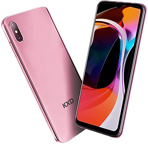 KXD D58 - Smartphone libre 4G (6,22 pulgadas), pantalla HD + Waterdrop Display 4000 mAh, cámara dual de 13 MP + 5 MP, 32 GB ROM (128 GB), ampliable, Android 9.0 Dual SIM, color rosa