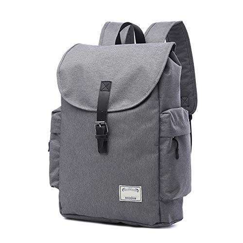 Sports Fitness Backpack Female Korean Men's Business Computer Backpack Riding Canvas Bag,Delicate Lining Breathable (Color : Light Gray)
