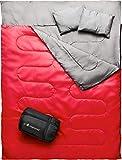 MalloMe Double Camping Sleeping Bag - 3 Season...