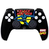 Skinit Decal Gaming Skin Compatible with PS5/PS5 Digital Edition DualSense Controller - Officially Licensed Marvel Black Panther Comic Design