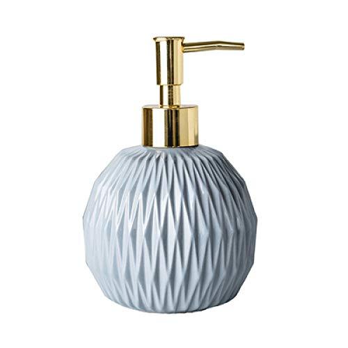 ZJMIQT zeepdispenser, vloeibare zeep grayceramic badkamer shampoo en douchegel fles met roestvrij staal type gouden kop indrukken