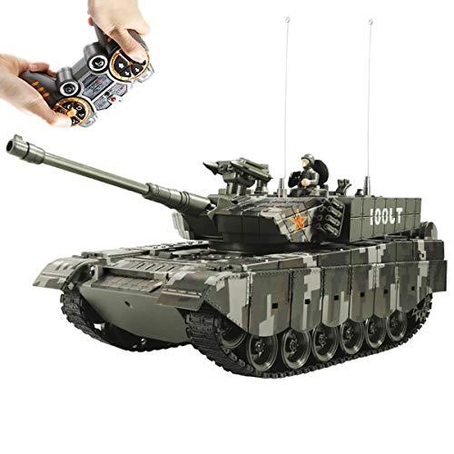 XIAOKEKE RC Tanque De Batalla RC BB Panzer Tank, Radio Control Remoto Militar Tanque De Batalla for El Muchacho, Juguetes Militares Que Dispara Balas De Airsoft Las Muchachas del Muchacho