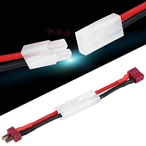 Alomejor T-Stecker Buchse zu TA Miya Stecker Kabel Mini TA Miya Stecker zu Buchse T-Stecker Deans Style Adapter mit 14 AWG Draht