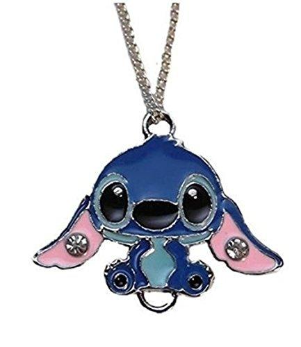 "Main Street 24/7 Lilo & Stitch Movie Stitch Character Metal/Enamel Pendant with 17"" Chain Blue"