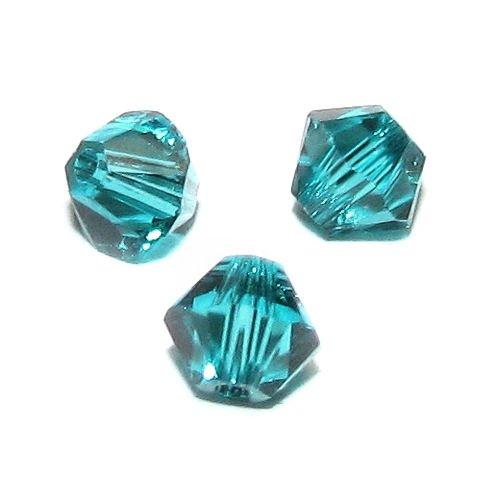 TCC Sourcing - Juego de 72 cuentas de cristal Swarovski Elements 5328 Xilon, circonita azul de 4 mm