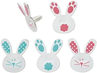 Easter Bunny and Tails Cupcake Rings - 24 pcs