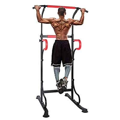 Polar Aurora Pull Up Dip Stand Power Tower Height Adjustable Multifunction Fitness Strength Training Equipment Exercise Workout Station