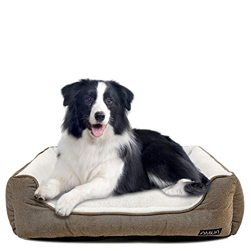 Durable Dog Bed Machine Washable Medium Dog Bed Square, Comfortable Puppy Dog Bed Medium