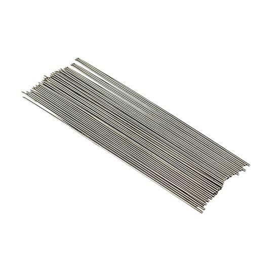 50 pinchos de metal reutilizables de acero inoxidable para barbacoa, brochetas cilíndricas Kabob, brochetas de barbacoa, brochetas reutilizables de metal, 30 cm de longitud