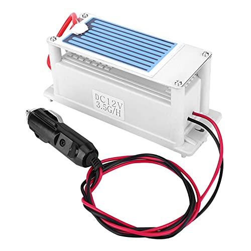 EVTSCAN Ultimo strumento di pulizia della purificazione dell'aria della macchina dell'ozonizzatore del generatore di ozono per auto integrato da 3,5 g DC12V