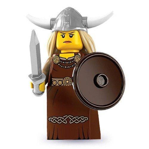 LEGO 8831 - Minifigur Wikinger Frau aus Sammelfiguren-Serie 7
