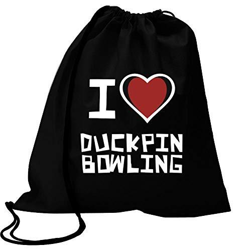 Idakoos I Love Duckpin Bowling Bicolor Heart Sport Bag