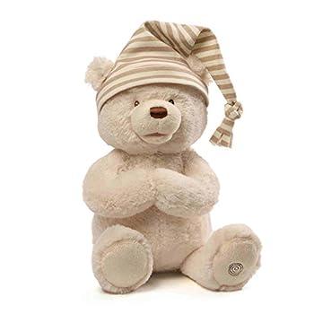 GUND Animated Goodnight Prayer Bear Spiritual Plush Stuffed Animal 15