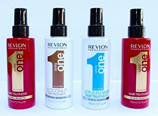 Revlon Uniq One All in One Hair Treatment 5.1 oz (150ml) Multi-Pack (2 Original, 1 Coconut, 1 Lotus)