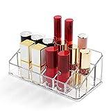 Lipstick Holder 18 Spaces Lipgloss Organizer, 3 Rows - Multi Level, Makeup Holder & Cosmetics Storage Display