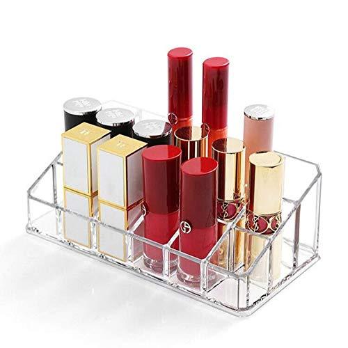 Lipstick Holder 18 Spaces Lipgloss Organizer 3 Rows - Multi Level Makeup Holder Cosmetics Storage Display