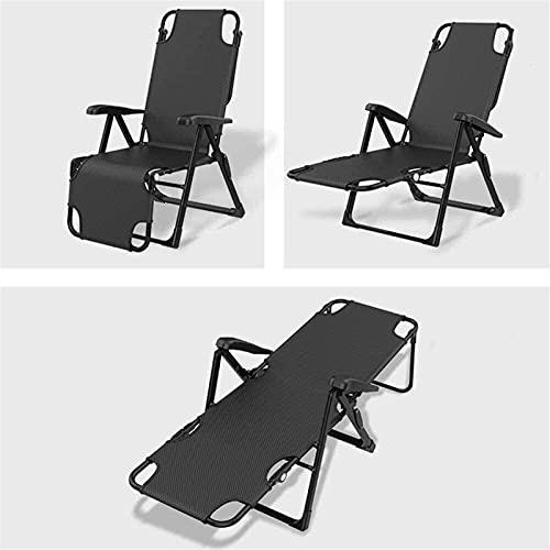 HCMNME Tumbona Plegable Tumbona, sin Silla de Gravedad, sillón portátil de la Siesta de la Oficina del hogar, sillones de jardín reclinadores