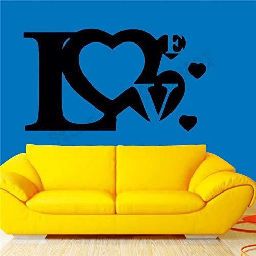yaonuli Pegatinas de Pared Love Design Room Decoration Vinilo Art póster extraíble Hermosa decoración Moderna Apliques de Moda 102X57cm