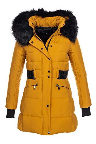 Elara Damen Winterjacke Gelb Chunkyrayan H-G902 Yellow-36 (S)