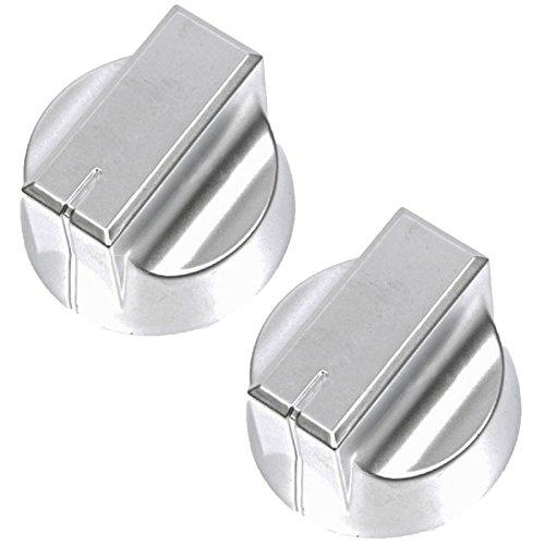 Nieuwe Wereld Echte Temperatuur Controle Knop voor Oven Kookplaat Pak van 2, Zilver)