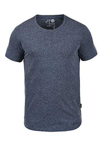 !Solid Thias Herren T-Shirt Kurzarm Shirt Mit Rundhalsausschnitt, Größe:L, Farbe:Insignia Blue (1991)