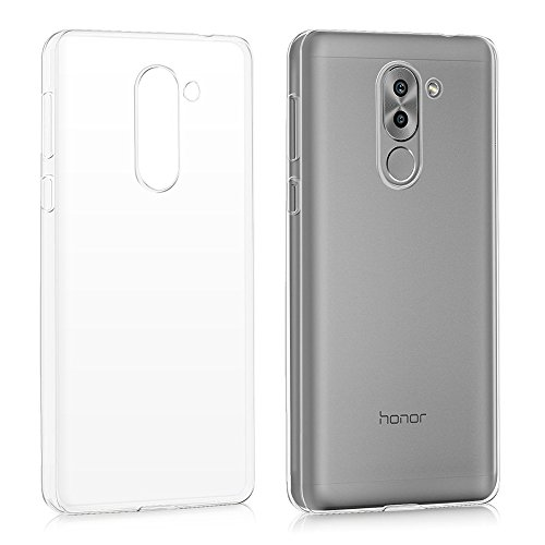 REY Funda Carcasa Gel Transparente para Huawei Honor 6X 2016, Ultra Fina 0,33mm, Silicona TPU de Alta Resistencia y Flexibilidad