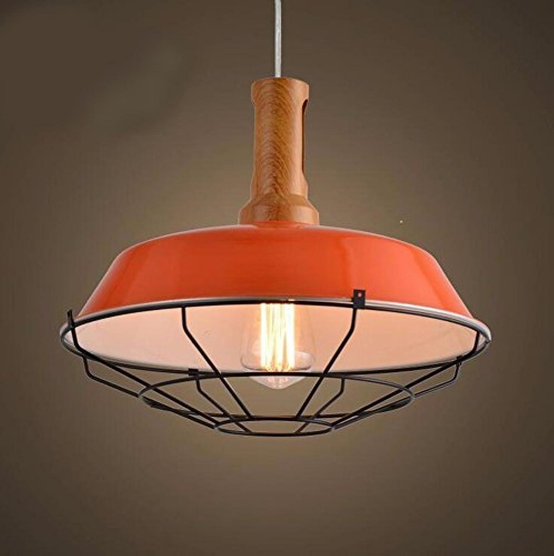 LighSCH Pendelleuchten Home Deckel einfach das Wohnzimmer Schlafzimmer Loft Orange 26cm Kronleuchter Lampe Lampen
