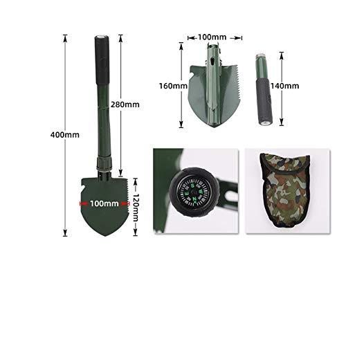Alician Gartenwerkzeuge Mini-Militär tragbare faltbare Schaufel Survival Spaten Notfallkelle für Outdoor Camping Werkzeug Werkzeug as shown S