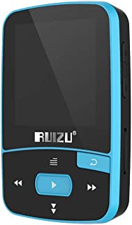 Anself RUIZU X50 8GB 1.5in MP3 MP4 Player HiFi Lossless Sound Quality BT Pedometer TF Card FM Radio Recording E-Book Time ...