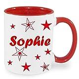 Personalisiertes/Individuelles Geschenk. Tasse Kaffeebecher Kaffee Tasse mit Namen und Sternen bedruckt - 6