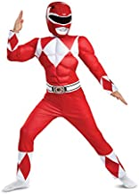 Disguise Red Ranger Classic Muscle Child Costume, Red, Medium/(7-8)