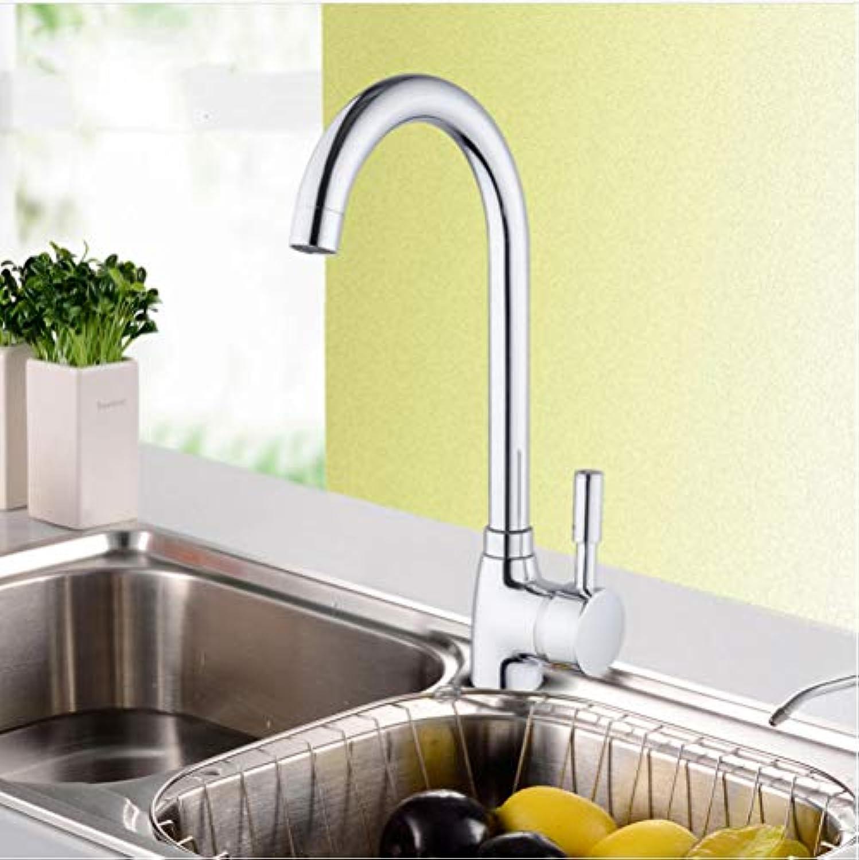 304 Edelstahl Einhand-Einlochmontage Küchenarmatur Spültisch Küchenarmatur Moderne Warm- und Kaltwasser