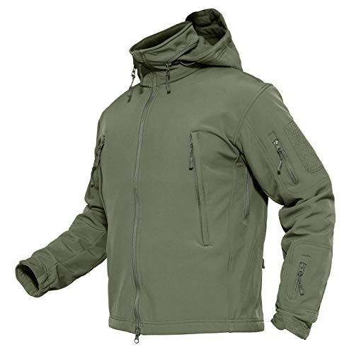 Mens Military Jackets Tactical Jacket Softshell Army Combat Jackets for Men X-Large