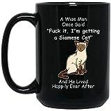 n\a sto ricevendo un gatto siamese 2 divertente che dice tazza di caffè nero