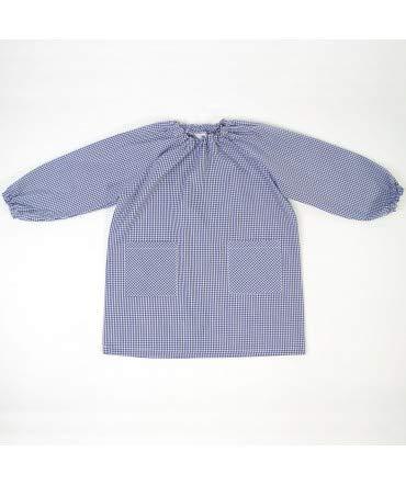 Bata Escolar Unisex Marino - Medida Bata Infantil - 6 años (104-116 cm de Altura)