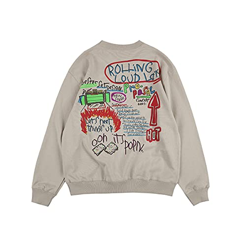 NAGRI Rolling Loud LA Poppin Crew Neck Sweatshirt,Grau,L