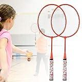Oreilet Ensemble de Badminton, Ensemble de Sport de Couleurs fluorescentes légères Badminton avec 2 balles pour Le Sport en Plein air(Fluorescent Orange)
