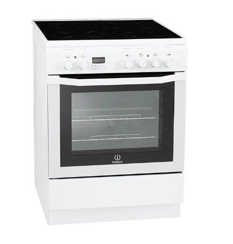 Indesit I6V6C6A (W) / FR Autonome A Blanc four et cuisinière - Fours et cuisinières (Cuisinière, Blanc, boutons, Rotatif, En haut devant, Electrique, 59 L)