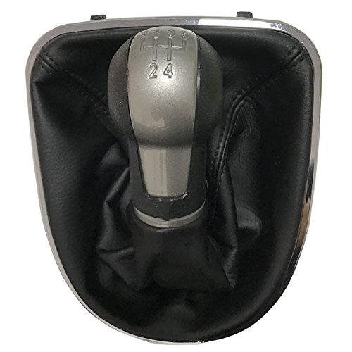 Maxiou Gear Shift Knob With Gaitor Leather Boot Cover For ALTEA LEON II 2...