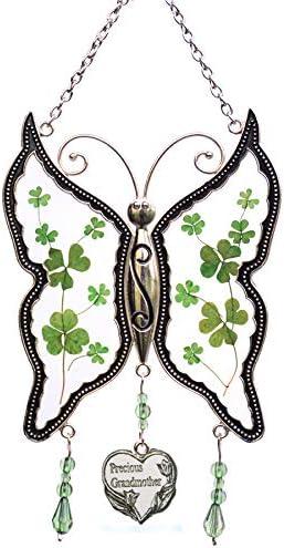 Shamrock Grandmother Butterfly Suncatchers C Glass Translated Stained Irish Max 85% OFF