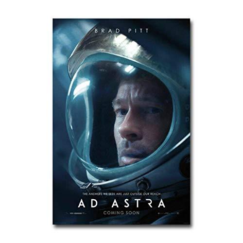 Ad Astra película Brad Pitt Tommy Lee Jones Lienzo Pintura Pared Arte Carteles impresión HD para Sala de Estar decoración del hogar -50x70 CM sin Marco