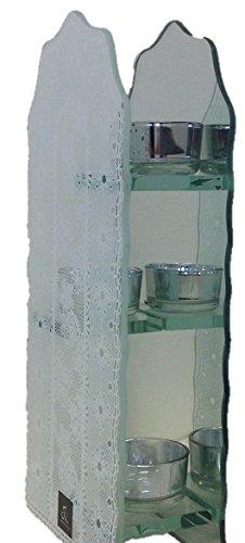 J-line 3Etagen Glas Teelichthalter. Halten 3Teelichter auf 3Etagen groß Kerze