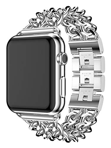 isp 正規品 Apple Watch 交換ベルト バンド ストラップ series4/3/2/1 40/44/38/42mm アップルウォッチ シリーズ ステンレス チェーン