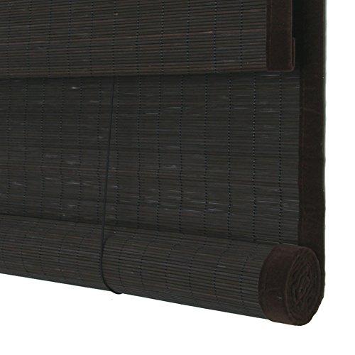 WENZHE Bambusrollo Fenster Sichtschutz Rollos Holzrollo Bambus Raffrollo Umgebung Feiner Bambus Schattierung Atmungsaktiv Zuhause Hängende Ornamente, 4 Farben, 17 Größen