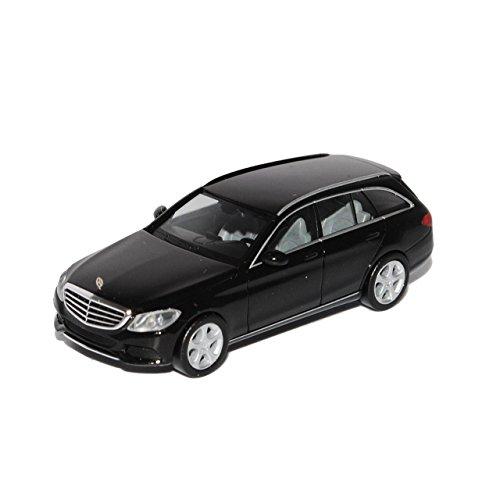Herpa Mercedes-Benz C-Klasse Elegance Kombi Schwarz W205 Ab 2014 H0 1/87 Modell Auto mit individiuellem Wunschkennzeichen
