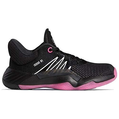 adidas Mujer D.O.N. Issue 1 C Zapatos de Baloncesto Negro, 33 EU