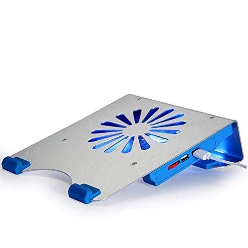 Refrigeración silenciosa del cojín del Ordenador portátil del cojín del refrigerador del pie, con Ventiladores USB, Peso Ligero Ultra Slim-diseño Base refrigerante para portatil RVTYR