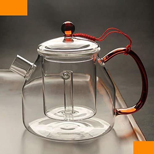 Family Needs Grote capaciteit All-glas Steamy Theepot galvanische keramische kookplaat thee-Device Verdikte hittebestendig glas Koken theepot Kettle Tea Set Percolaat (Color : Cooking teapot)