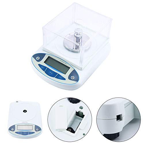 100/200/500 x 0.001g 1mg Lab Analytical Balance Digital High Precision Electronic Scale Jewelry Scale (500x0.001g)
